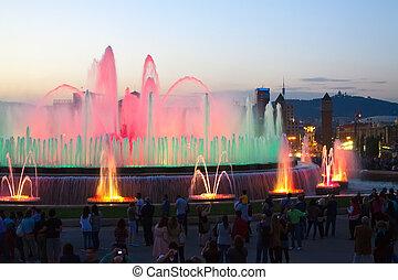Magic fountain at Barcelona