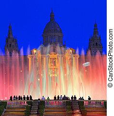 Magic Fountain at dusk, Barcelona