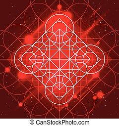 Magic Geometry Sign - Magic geometry sign. Alchemy mystical...
