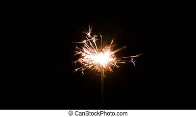 Magic Glowing Flow of Sparks in the Dark