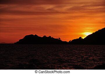 Magic Golden Hour at Sunset in Komodo National Park