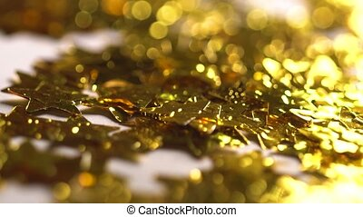 Magic golden stars and glitters