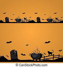Magic Halloween border