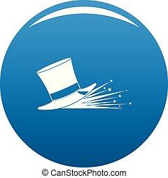 Magic hat icon blue vector