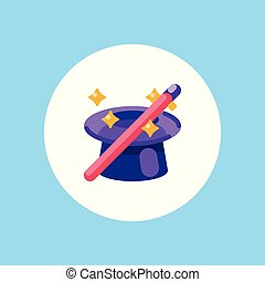 magic hat vector icon sign symbol
