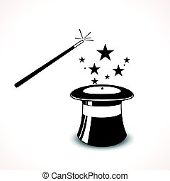 magic hat with wand