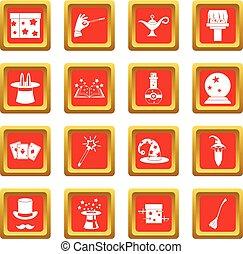 Magic icons set red