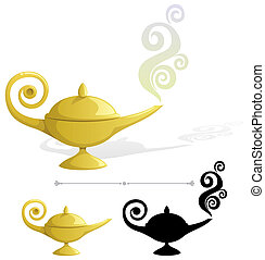 Magic Lamp - Magic lamp. No transparency used. Basic...