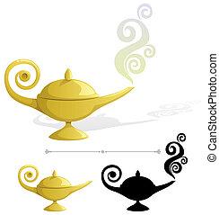 Magic Lamp - Magic lamp. No transparency used. Basic (linear...