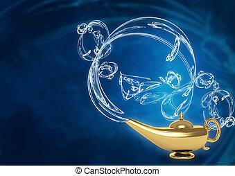 Magic lamp - Symbol performance of desires - magic lamp
