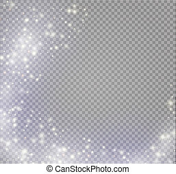Magic light vector effect. Glow special effect light, flare, star and burst. Isolated spark
