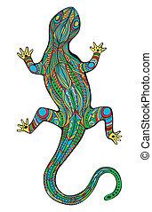 Magic Lizard - Ornate lizard with ethnic pattern. Magic ...
