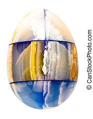 magic marble egg - marble egg isolated on white background
