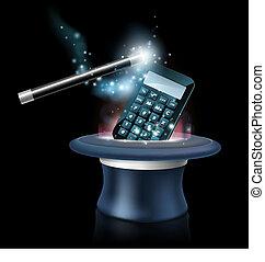 Magic math concept - Magic maths concept with calculator...