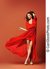 magic moment - Fashion shot of the elegant woman in ...