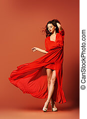 magic moment - Fashion shot of the elegant woman in...