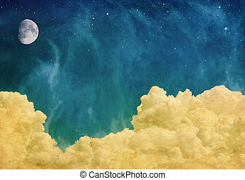 Magic Moon and Clouds