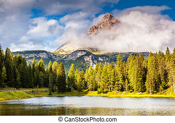 magic mountain landscape - Great view of the foggy Lago Di...