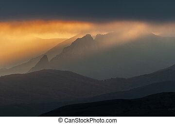 Magic mountain landscape.