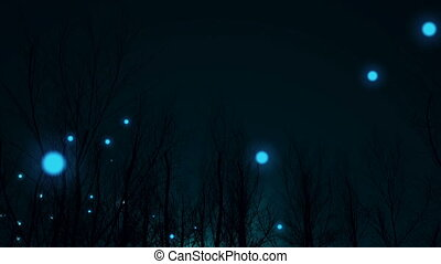"""""""Magic night in silhouette of forest"""" - """"Magic night in..."""