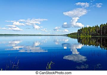 Magic of reflection - The magic of reflection. Lake...