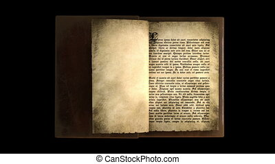Magic old book with turning pages