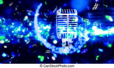 Magic on the Mic Looping Animated Background
