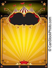 Magic orange circus poster - An orange circus background for...