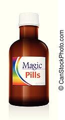 Magic Pills Medicine Bottle Vial - Medical vial bottle named...