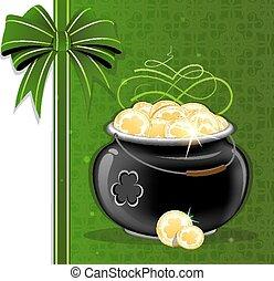 Magic pot with gold coins