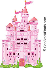 Magic princess Castle - Illustration of Magic Fairy Tale...