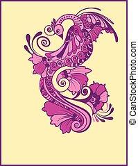 Magic purple bird.