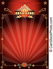 Magic red fantastic circus poster