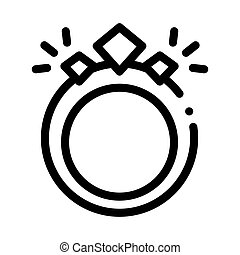 Magic Ring Icon Vector Outline Illustration