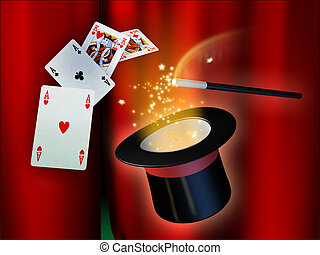Magic show - Some illusionist tools for a magical show. ...