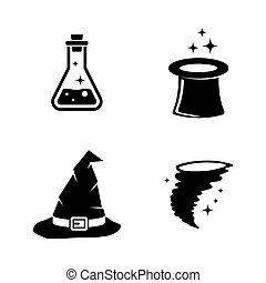Magic. Simple Related Vector Icons