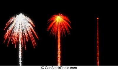 Magic smoking red Fireworks