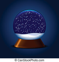 Magic snowball - Empty magic snow ball with stand and...