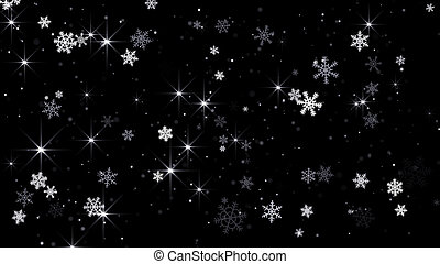 magic snowfall abstract background