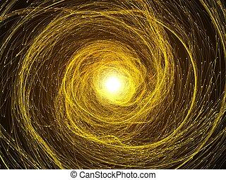 magic sparkle swarm.(vortex, yellow version)
