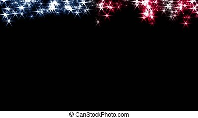 Magic sparkles fairy dust wand particle trail transition US USA stars stripes