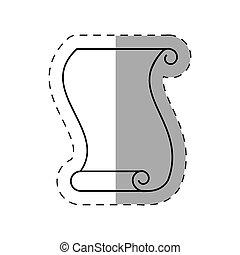 magic spell cut line vector illustration eps 10