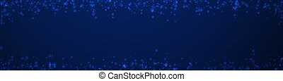 Magic stars Christmas background. Subtle flying snow flakes ...
