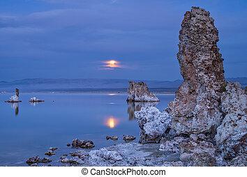 Magic sunset on Mono lake in California, USA