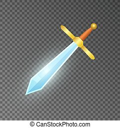 Magic sword isolated game element