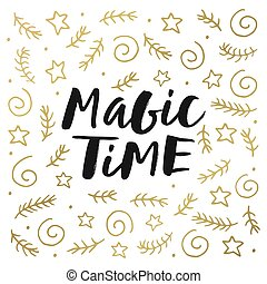 Magic time lettering