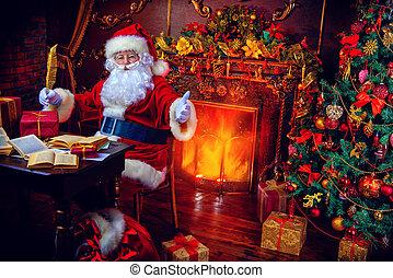 magic time - Christmas, mail of Santa Claus. Santa Claus at...