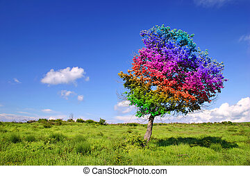 Magic Tree on grass land