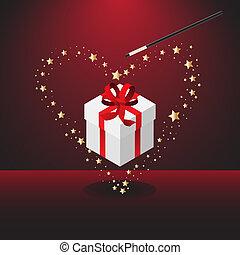Magic valentine wand - Vector - Magic wand forming bright ...