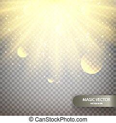 Magic vector luminous background.